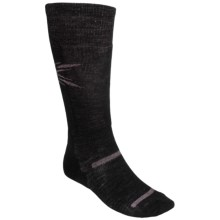 Point6 Pro Starburst Lightweight Ski Socks - Over-the-Calf (For Men and Women) in Black/Pink - 2nds