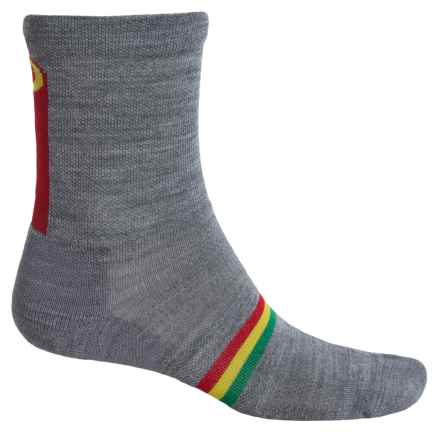 Point6 Rebel Socks - Merino Wool, 3/4 Crew (For Men and Women) in Stone - Closeouts