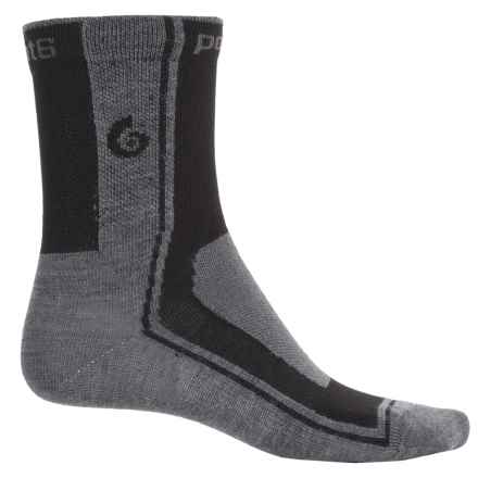 Point6 Rider Ultralight Cycling Socks - Merino Wool, 3/4 Crew (For Men) in Gray/Black - Closeouts