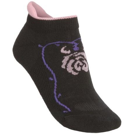 Point6 Rose Micro Socks - Merino Wool Blend, Lightweight (For Women) in Black