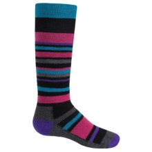 Point6 Rumble Merino Wool Blend Socks - Over-the-Calf (For Kids and Youth) in Black - 2nds