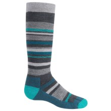 Point6 Rumble Merino Wool Blend Socks - Over-the-Calf (For Kids and Youth) in Grey - 2nds