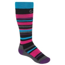 Point6 Rumble Socks - Merino Wool Blend, Midweight, Over-the-Calf (For Little and Big Kids) in Black - 2nds
