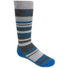 Point6 Rumble Socks - Merino Wool Blend, Midweight, Over-the-Calf (For Little and Big Kids) in Grey - 2nds