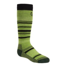 Point6 Rumble Socks - Merino Wool Blend, Midweight, Over-the-Calf (For Little and Big Kids) in Lime - 2nds