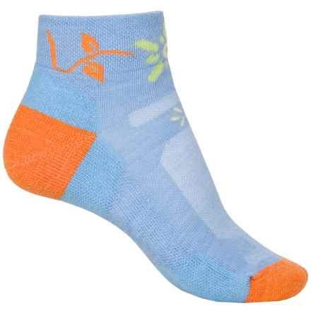 Point6 Running Bellis Socks - Merino Wool, Quarter Crew (For Women) in Sky - Closeouts