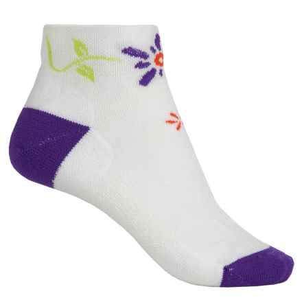 Point6 Running Bellis Socks - Merino Wool, Quarter Crew (For Women) in White - 2nds