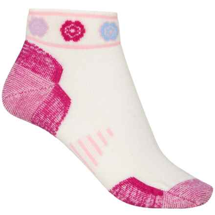 Point6 Running Katie Ultralight Socks - Merino Wool, Ankle (For Men and Women) in White/Fuchsia - 2nds