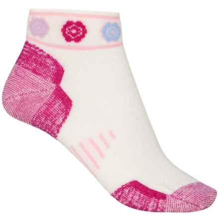 Point6 Running Katie Ultralight Socks - Merino Wool, Ankle (For Women) in White/Fuchsia - Closeouts