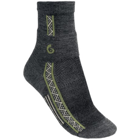 Point6 Running Lightweight Socks - Merino Wool, 3/4-Crew (For Women) in Grey