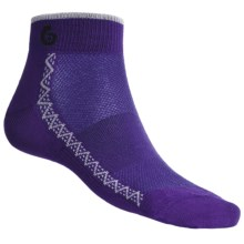 Point6 Running Ultralight Socks - Merino Wool, Ankle (For Men and Women) in Purple - 2nds