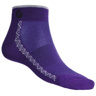 Point6 Running Ultralight Socks - Merino Wool, Ankle (For Men and Women) in Purple