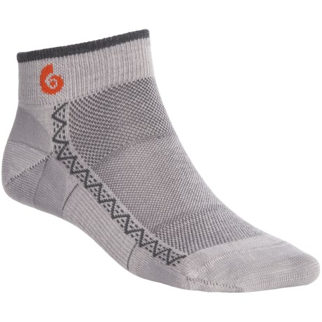 Point6 Running Ultralight Socks - Merino Wool, Ankle (For Men and Women) in Silver/Grey