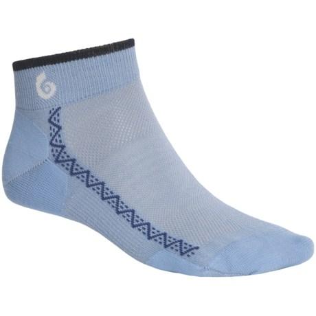 Point6 Running Ultralight Socks - Merino Wool, Ankle (For Men and Women) in Sky/Navy