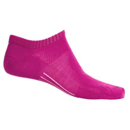 Point6 Running Ultralight Socks - Merino Wool, Below the Ankle (For Men and Women) in Lipstick - 2nds