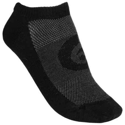Point6 Running Ultralight Socks - Merino Wool, No-Show (For Men and Women) in Black - 2nds