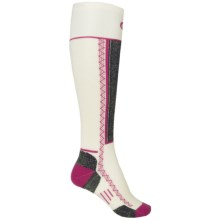 Point6 Shred Ski Socks - Merino Wool, Over the Calf (For Men and Women) in White - Closeouts