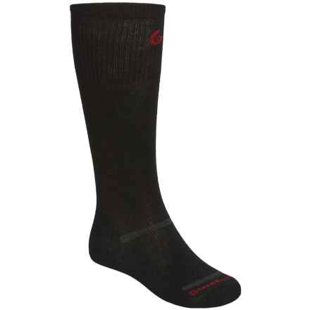 Point6 Ski 1401 Ultralight Compression Socks - Over-the-Calf (For Men and Women) in Black - 2nds