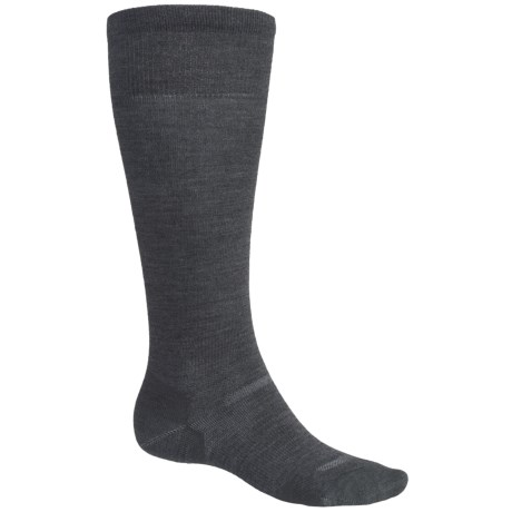 Point6 Ski 1401 Ultralight Compression Socks - Over-the-Calf (For Men and Women) in Grey