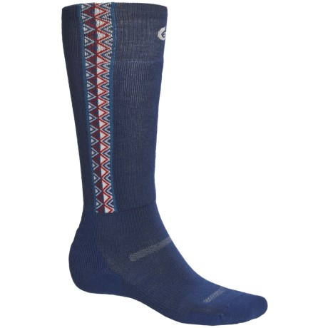 Point6 Ski In Sync Socks - Merino Wool, Over-the-Calf (For Men and Women) in Navy