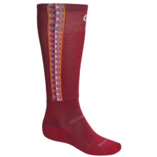 Point6 Ski In Sync Socks - Merino Wool, Over-the-Calf (For Men and Women) in Red - 2nds