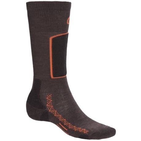 Point6 Ski Light Ski Socks - Merino Wool Blend, Over-the-Calf (For Men and Women) in Grey