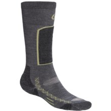 Point6 Ski Light Ski Socks - Merino Wool Blend, Over-the-Calf (For Men and Women) in Grey - 2nds