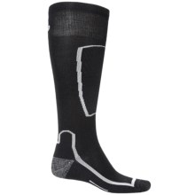 Point6 Ski Light Socks - Merino Wool, Over the Calf (For Men and Women) in Black - 2nds