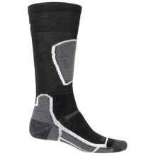 Point6 Ski Medium Socks - Merino Wool, Over the Calf (For Men and Women) in Black - 2nds
