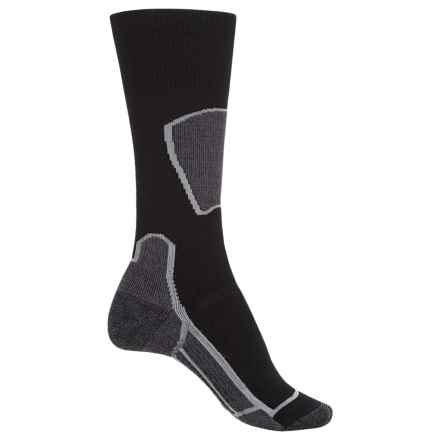 Point6 Ski Medium Socks - Merino Wool, Over the Calf (For Men and Women) in Black - Closeouts