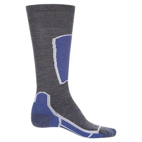 Point6 Ski Medium Socks - Merino Wool, Over the Calf (For Men and Women) in Gray
