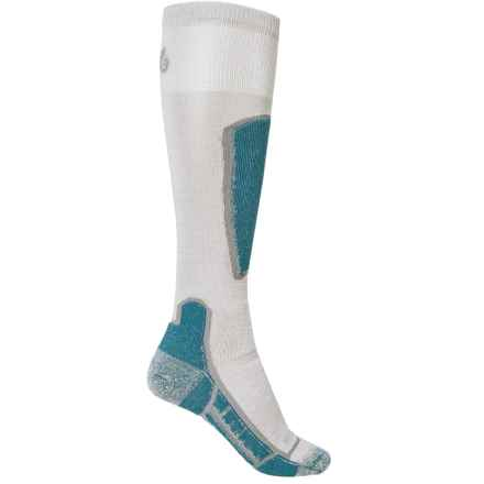 Point6 Ski Medium Socks - Merino Wool, Over the Calf (For Men and Women) in Silver - 2nds