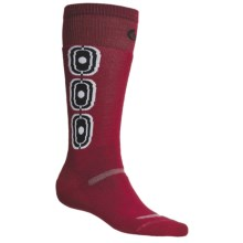 Point6 Ski Medium-Weight Snowball Socks - Merino Wool, Over-the-Calf (For Men and Women) in Red - 2nds