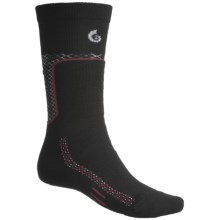 Point6 Ski Midweight Ski Socks - Merino Wool, Over-the-Calf (For Men and Women) in Black - 2nds