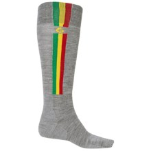 Point6 Ski Pro Parallel Ski Socks - Merino Wool, Over the Calf (For Men and Women) in Stone - 2nds