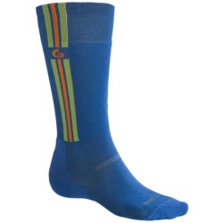 Point6 Ski Pro Parallel Ski Socks - Merino Wool, Over-the-Calf, Lightweight (For Men and Women) in Black