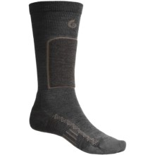 Point6 Ski Pro Ski Socks - Merino Wool Blend, Lightweight, Over-the-Calf (For Men and Women) in Grey - 2nds