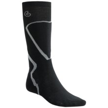Point6 Ski Pro Socks - Merino Wool, Over-the-Calf (For Men and Women) in Black - 2nds