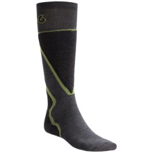 Point6 Ski Pro Socks - Merino Wool, Over-the-Calf (For Men and Women) in Gray - 2nds