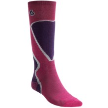 Point6 Ski Pro Socks - Merino Wool, Over-the-Calf (For Men and Women) in Lipstick - 2nds