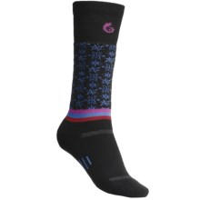 Point6 Ski/Free Fall Medium-Weight Socks- Merino Wool, Over-the-Calf (For Women) in Sky - 2nds