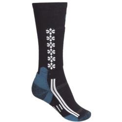 Point6 Ski/Snow Socks - Merino Wool, Over-the-Calf (For Women) in Black