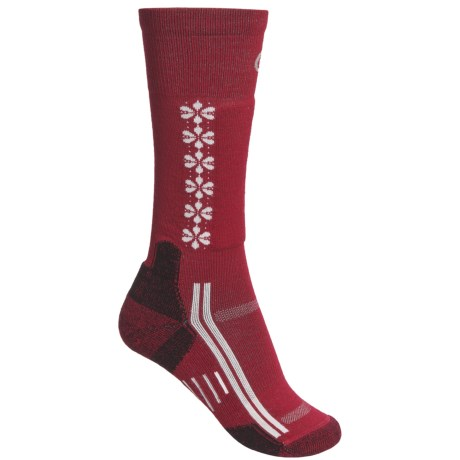 Point6 Ski/Snow Socks - Merino Wool, Over-the-Calf (For Women) in Black