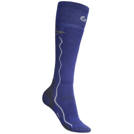Point6 Ski/Sun Socks - Merino Wool, Over-the-Calf (For Women) in Blue Violet