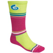 Point6 Snowboard Legend Midweight Socks - Merino Wool, Over-the-Calf (For Men and Women) in Lipstick - 2nds