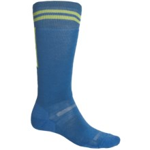Point6 Snowboard Retro Lightweight Socks - Merino Wool, Over-the-Calf (For Men and Women) in Blue - 2nds