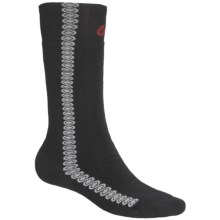 Point6 Snowboard Surf Medium-Weight Socks - Merino Wool, Over-the-Calf (For Men and Women) in Black - 2nds