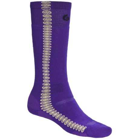 Point6 Snowboard Surf Medium-Weight Socks - Merino Wool, Over-the-Calf (For Men and Women) in Purple