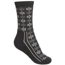 Point6 Snowflake Socks - Merino Wool, Crew (For Women) in Black - 2nds