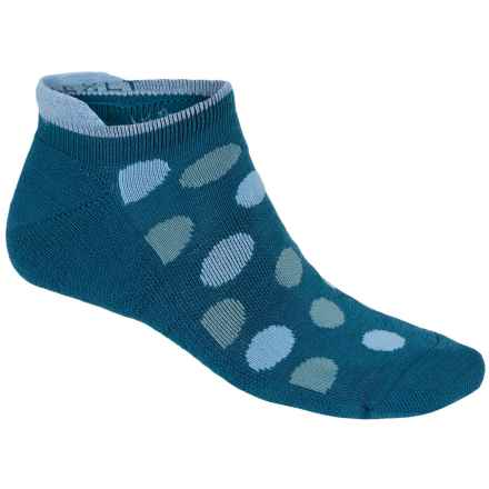 Point6 Speckle Extra Light Micro Socks - Merino Wool Blend, Below-the-Ankle (For Women) in Teal - Closeouts
